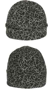 Mössa i filtad ull – Bonn svartvit