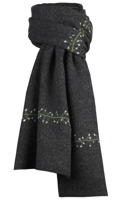 Halsduk i filtad ull – Dådra svartgrön