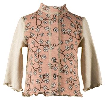 Barnkofta Blomkvist rosa beige volang 3-6 mån
