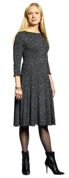 Ullklänning Karin Lilla bonn svartvit