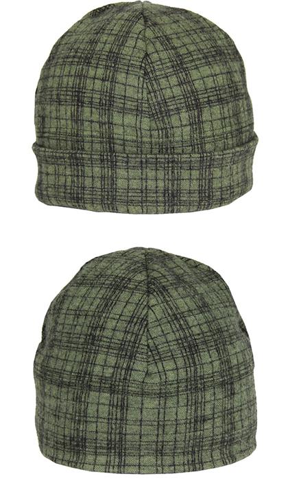Mössa i filtad ull – Tunn ruta grön