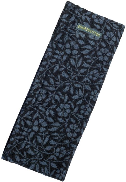 Pannband Vinca svartblå