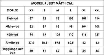 Måttlista Rusett