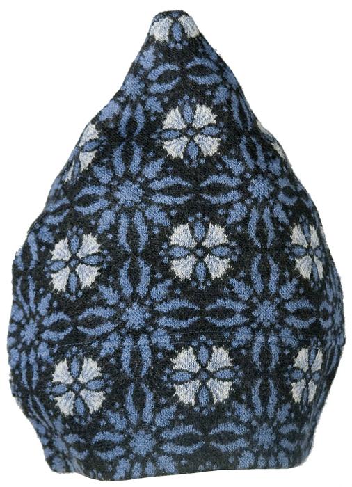 Barnmössa 6-12 mån Tistel svart blå