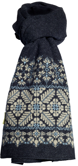 Halsduk i filtad ull – Sofia svartbeige